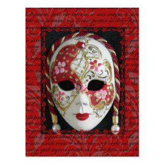 Masque vénitien carte postale