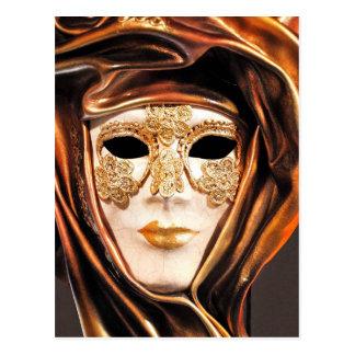 Masque vénitien de carnaval carte postale