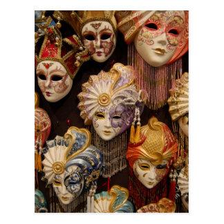 Masques de carnaval à Venise Carte Postale