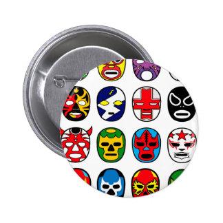Masques de lutte mexicains de Lucha Libre Luchador Badge