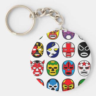 Masques de lutte mexicains de Lucha Libre Luchador Porte-clé Rond