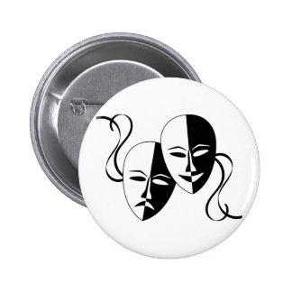 Masques de théâtre de comédie et de badges