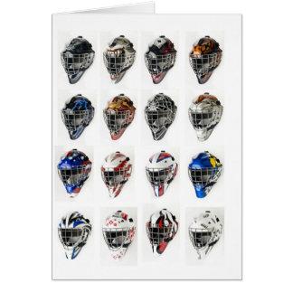 Masques d'hockey cartes