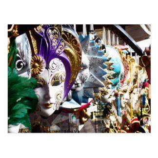 Masques vénitiens 1 carte postale