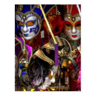 Masques vénitiens cartes postales