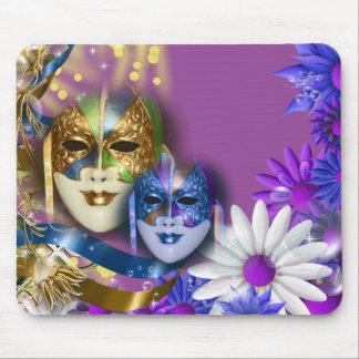 Masques vénitiens de quinceanera de mascarade tapis de souris
