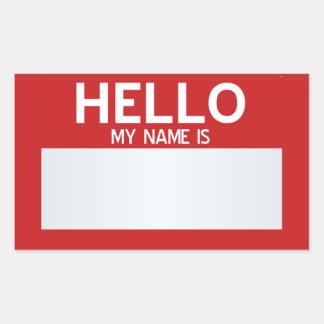 Masquez bonjour mon nom est… personnalisable sticker rectangulaire