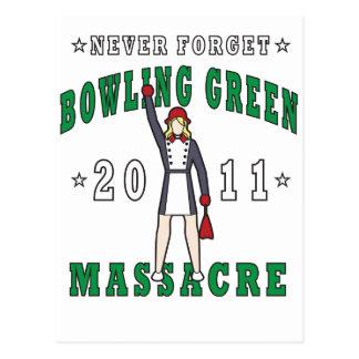 Massacre 2011 de Bowling Green Carte Postale