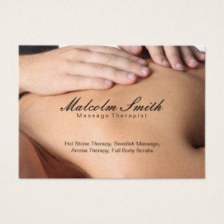 Massage de la retraite | de spa (carte de cartes de visite