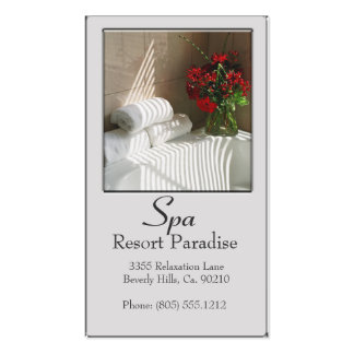 Massage de paradis de station thermale carte de visite