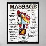 Massage de pied/thérapie thaïlandais de réflexothé affiches
