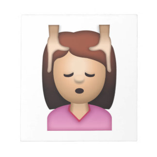 Massage de visage de femme - Emoji Bloc-note