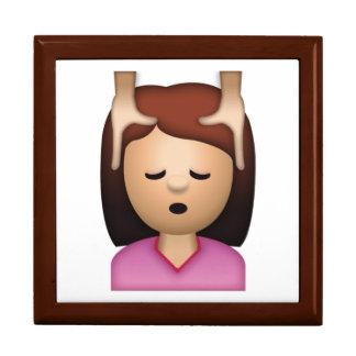 Massage de visage de femme - Emoji Grande Boîte À Bijoux Carrée
