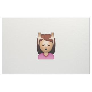 Massage de visage de femme - Emoji Tissu