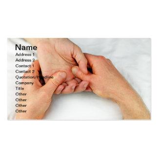 Massage d'une paume cartes de visite personnelles