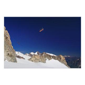 Massif et mer De de Mont Blanc glace Photographies D'art