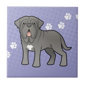 Mastiff napolitain de bande dessinée petit carreau carré