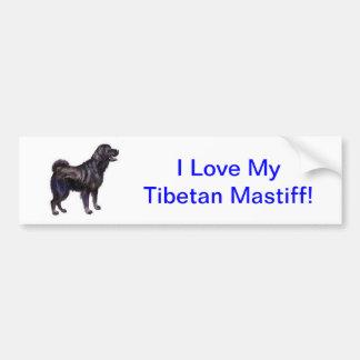 Mastiff tibétain autocollant pour voiture