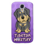 Mastiff tibétain de bande dessinée pourpre