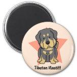 Mastiff tibétain d'étoile de Kawaii Magnets Pour Réfrigérateur