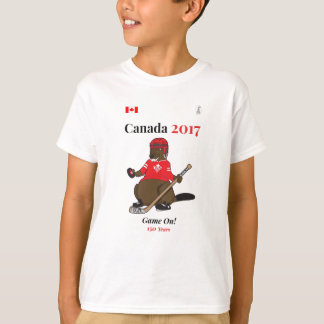 Match de hockey de castor du Canada 150 en 2017 T-shirt