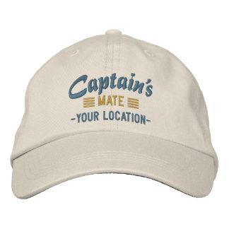 MATE de capitaine personnalisez-le ! Casquette Casquette Brodée