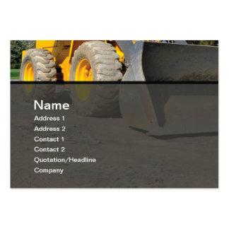 matériel de construction carte de visite grand format