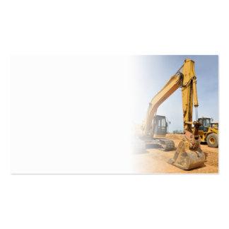 matériel de construction de pelle rétro carte de visite standard