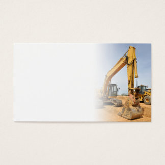 matériel de construction de pelle rétro cartes de visite