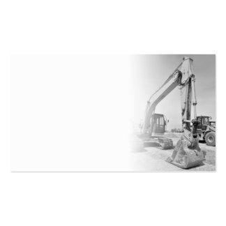 matériel de construction de pelle rétro dans carte de visite standard