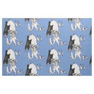 Matériel de tissu de blanchisserie de bull-terrier