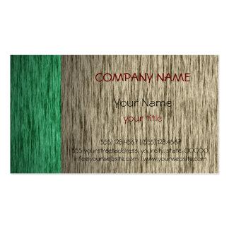 Matériel en bois moderne élégant professionnel 2 carte de visite standard