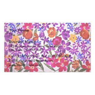 Matériel floral de tissu cartes de visite personnelles