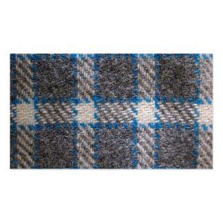 Matériel gris et bleu de tartan carte de visite standard