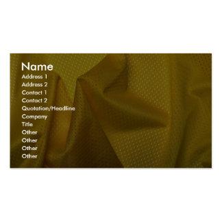 Matériel jaune de jersey modèles de cartes de visite