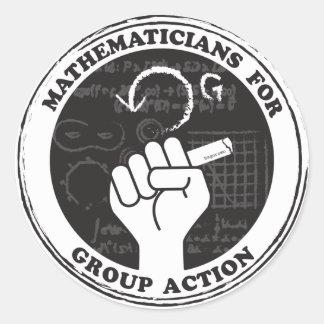 Mathématiciens pour des autocollants d'action de