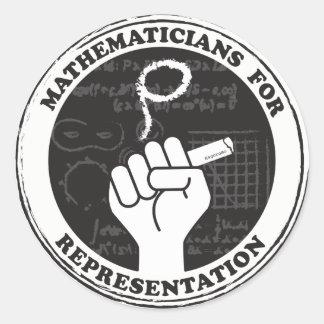 Mathématiciens pour des autocollants de