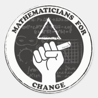 Mathématiciens pour des autocollants de changement