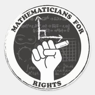 Mathématiciens pour des autocollants de droites