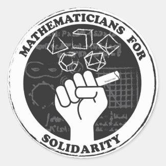 Mathématiciens pour des autocollants de solidarité