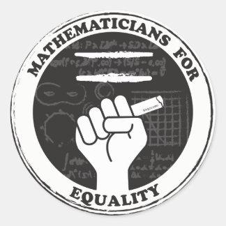 Mathématiciens pour des autocollants d'égalité