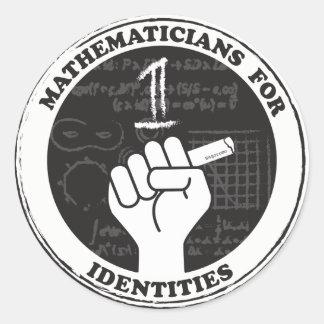 Mathématiciens pour des autocollants d'identités