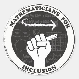 Mathématiciens pour des autocollants d'inclusion
