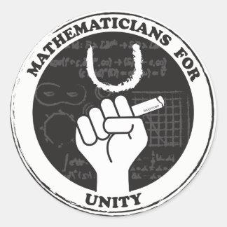 Mathématiciens pour des autocollants d'unité