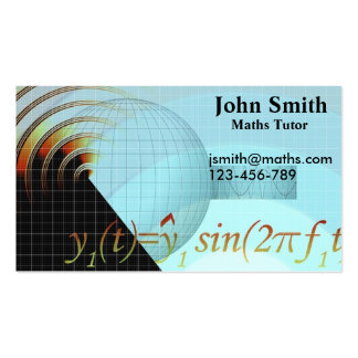 Maths avancées élégantes de tuteur ou de carte de visite standard