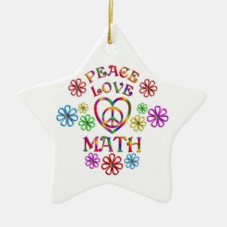 Maths d'amour de paix ornement étoile en céramique