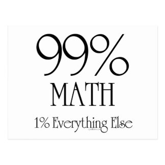 Maths de 99% carte postale