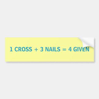 Maths de Pâques - adhésif pour pare-chocs Autocollant De Voiture