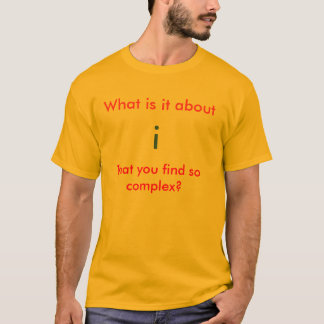 Maths Geeky - nombres complexes - T-shirt
