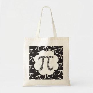 Maths pi floral sac de toile